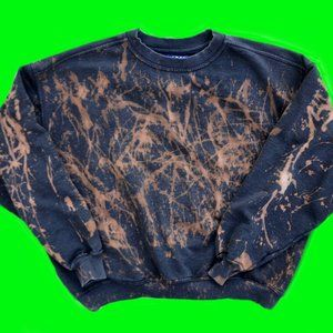 vintage 80's custom acid wash sweatshirt